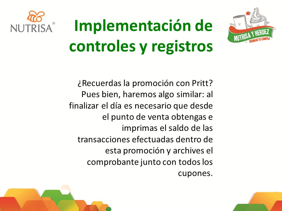 Implementación de controles y registros
