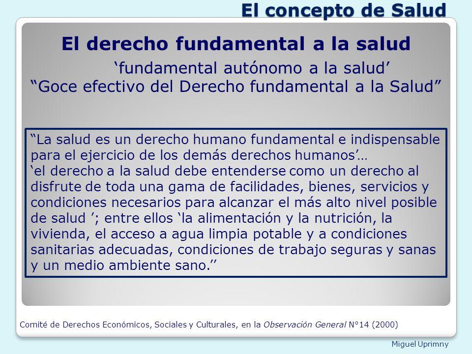 El derecho fundamental a la salud