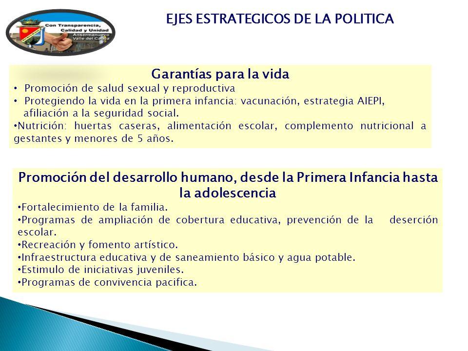 EJES ESTRATEGICOS DE LA POLITICA