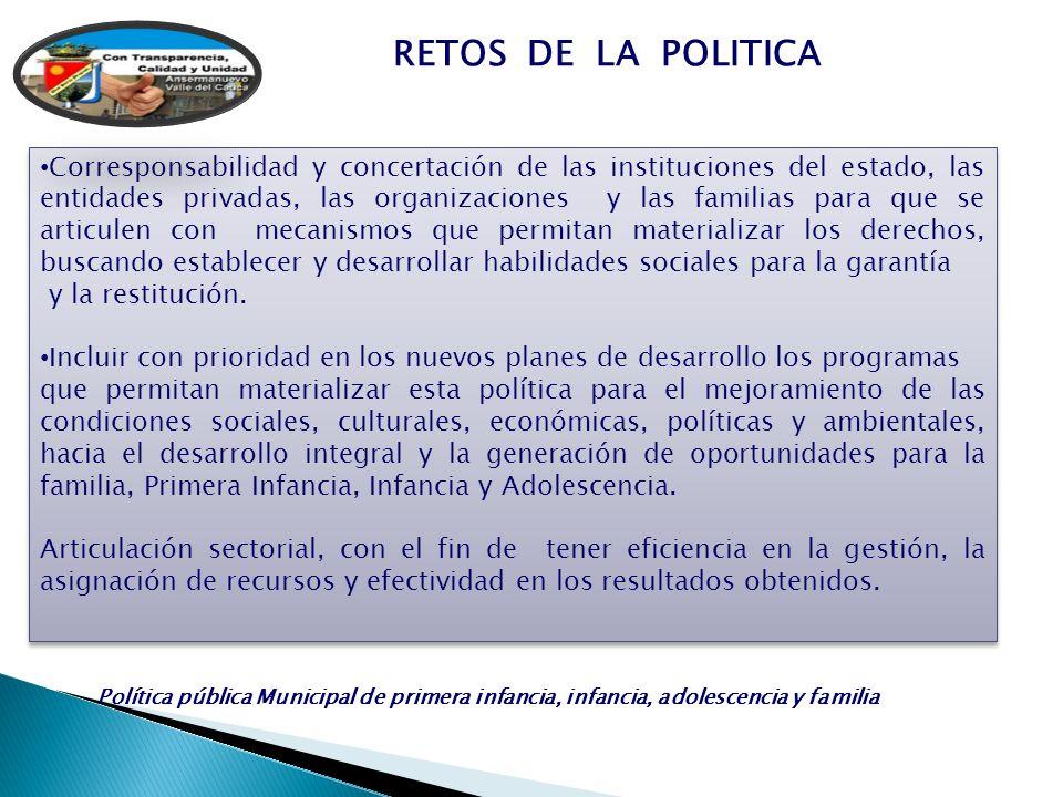 RETOS DE LA POLITICA