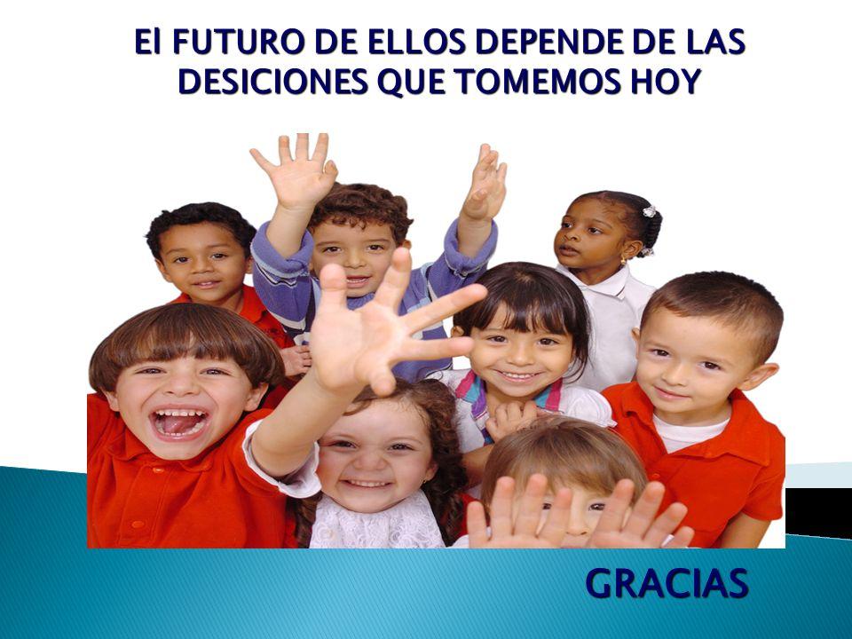 El FUTURO DE ELLOS DEPENDE DE LAS DESICIONES QUE TOMEMOS HOY