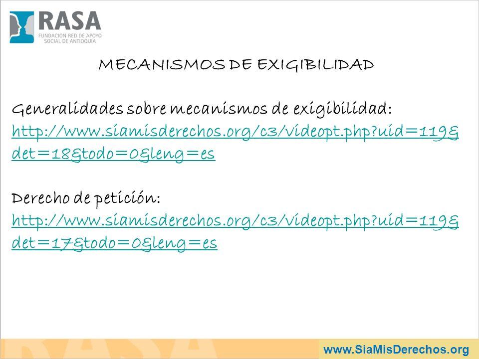 MECANISMOS DE EXIGIBILIDAD