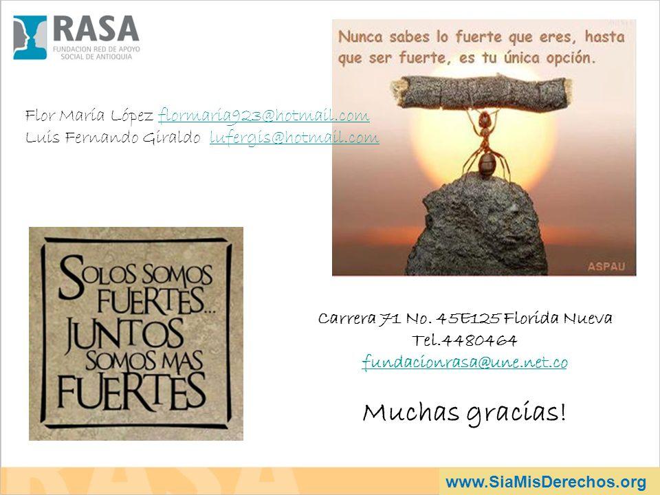Carrera 71 No. 45E125 Florida Nueva Tel.4480464