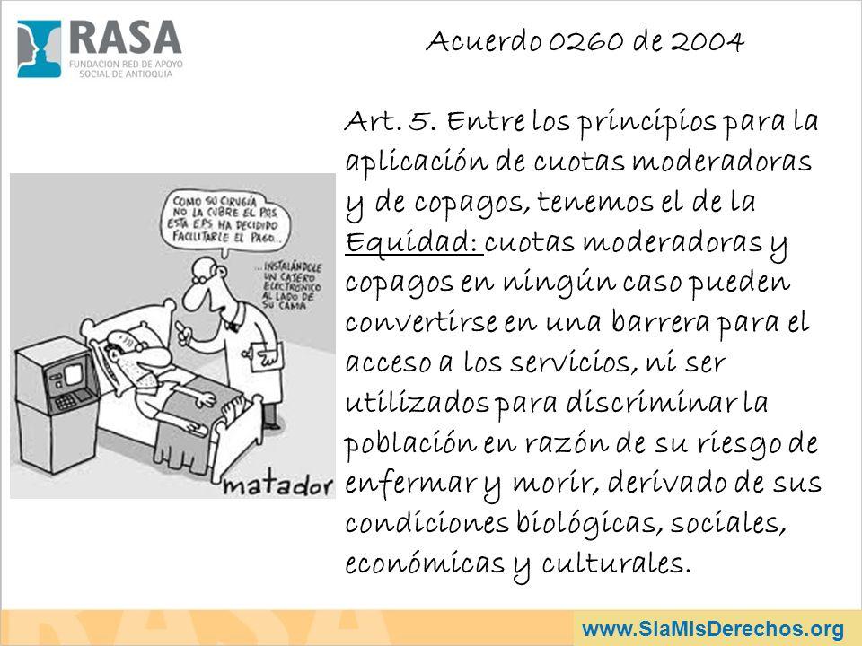 Acuerdo 0260 de 2004