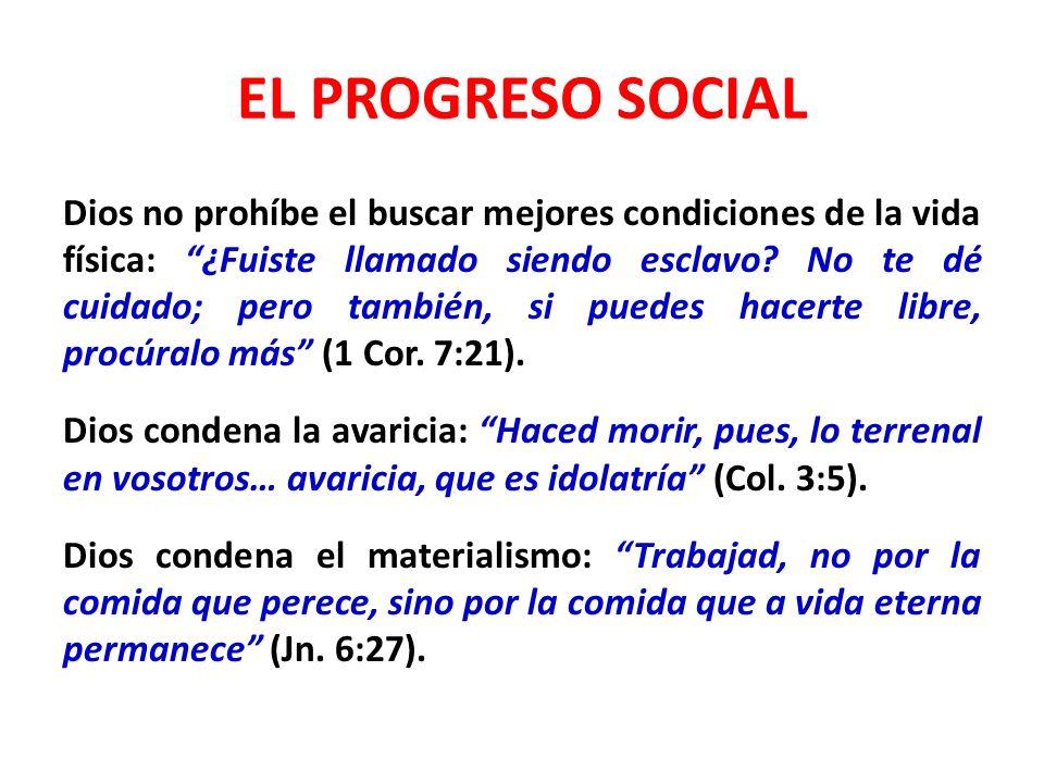 EL PROGRESO SOCIAL