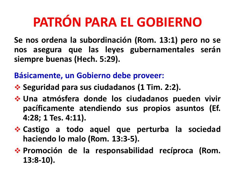 PATRÓN PARA EL GOBIERNO