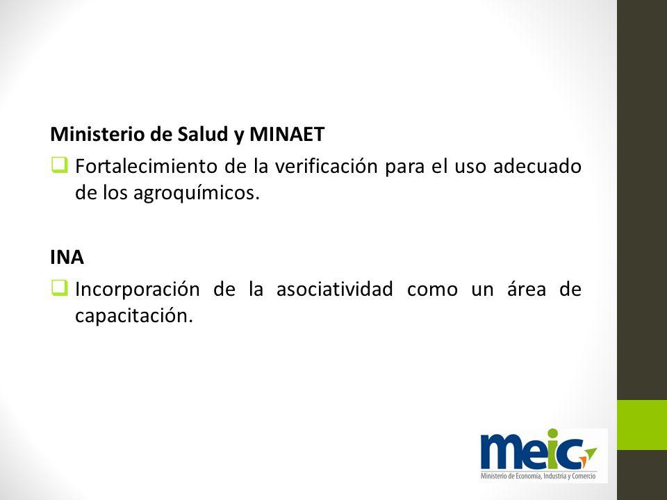 Ministerio de Salud y MINAET