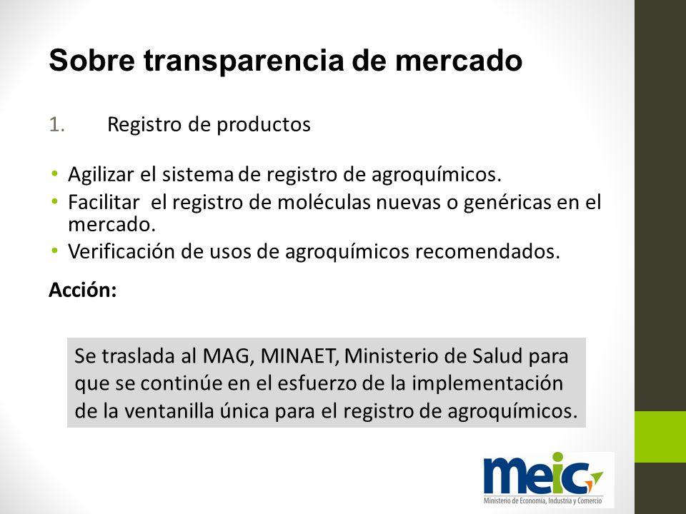 Sobre transparencia de mercado