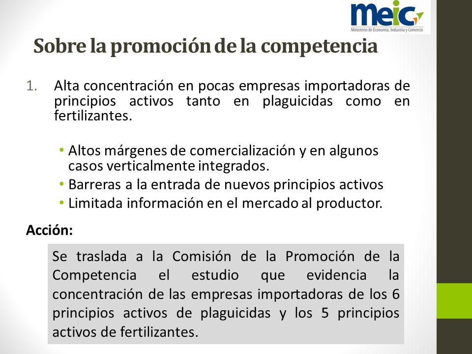 Sobre la promoción de la competencia