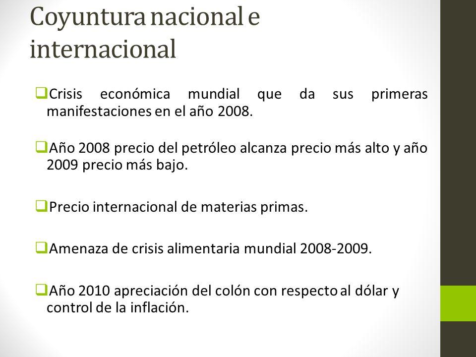 Coyuntura nacional e internacional