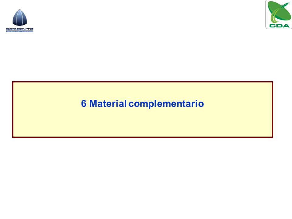 6 Material complementario
