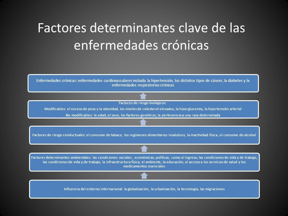 Factores determinantes clave de las enfermedades crónicas