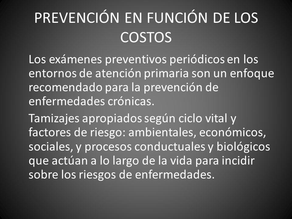 PREVENCIÓN EN FUNCIÓN DE LOS COSTOS