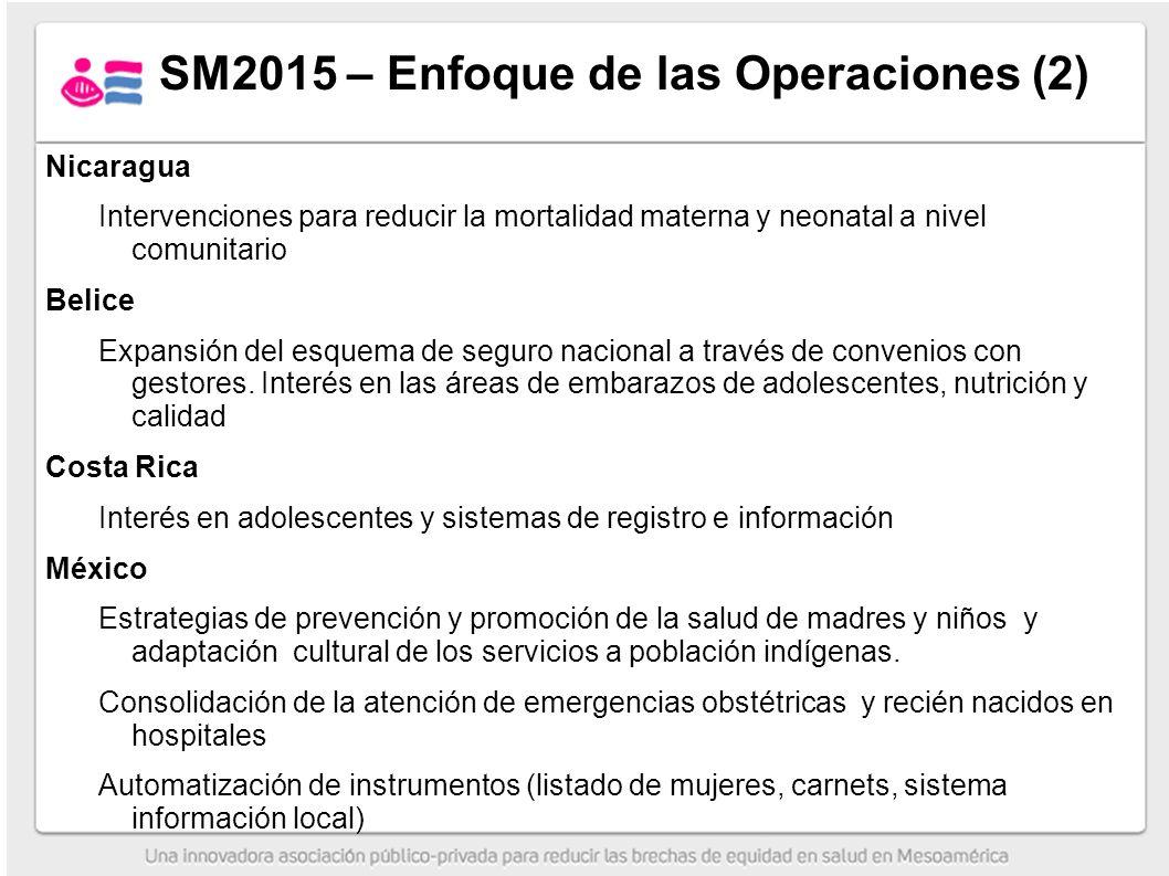 SM2015 – Enfoque de las Operaciones (2)