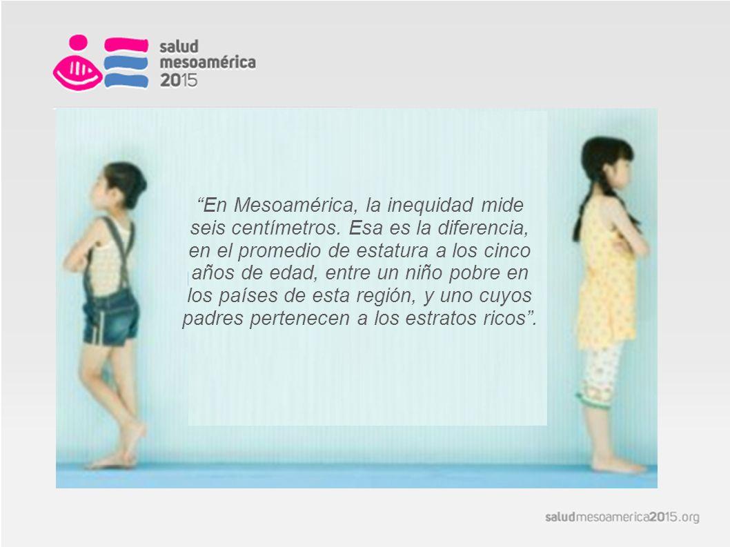 En Mesoamérica, la inequidad mide seis centímetros