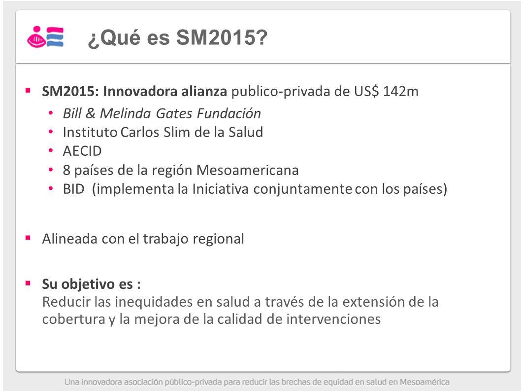 ¿Qué es SM2015 SM2015: Innovadora alianza publico-privada de US$ 142m