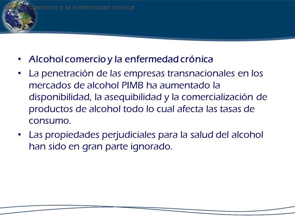 Alcohol comercio y la enfermedad crónica