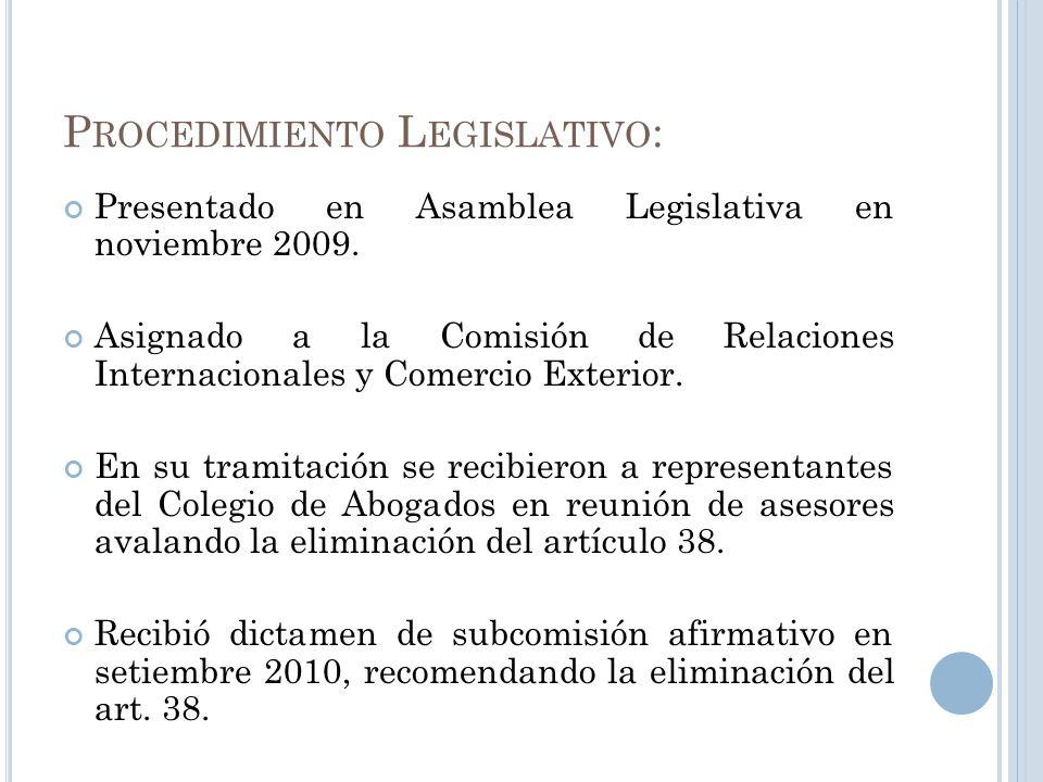 Procedimiento Legislativo:
