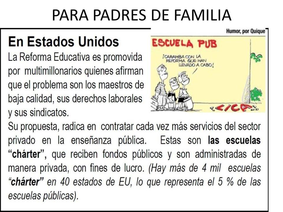 PARA PADRES DE FAMILIA