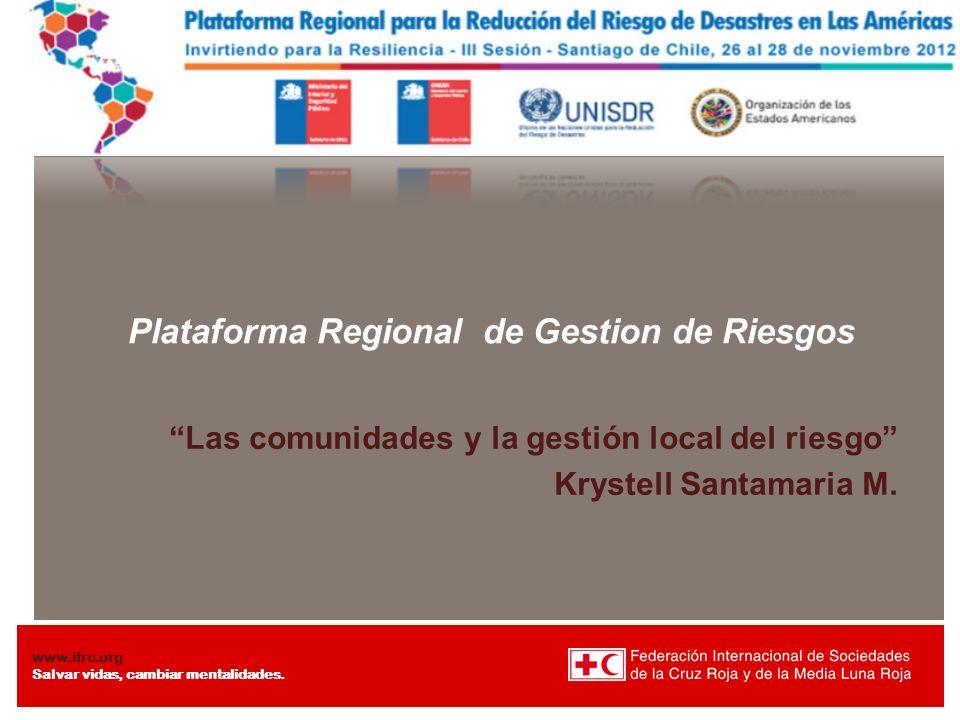 Plataforma Regional de Gestion de Riesgos