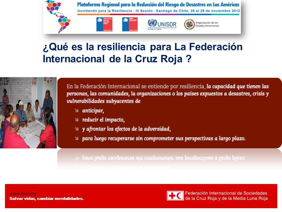¿Qué es la resiliencia para La Federación Internacional de la Cruz Roja