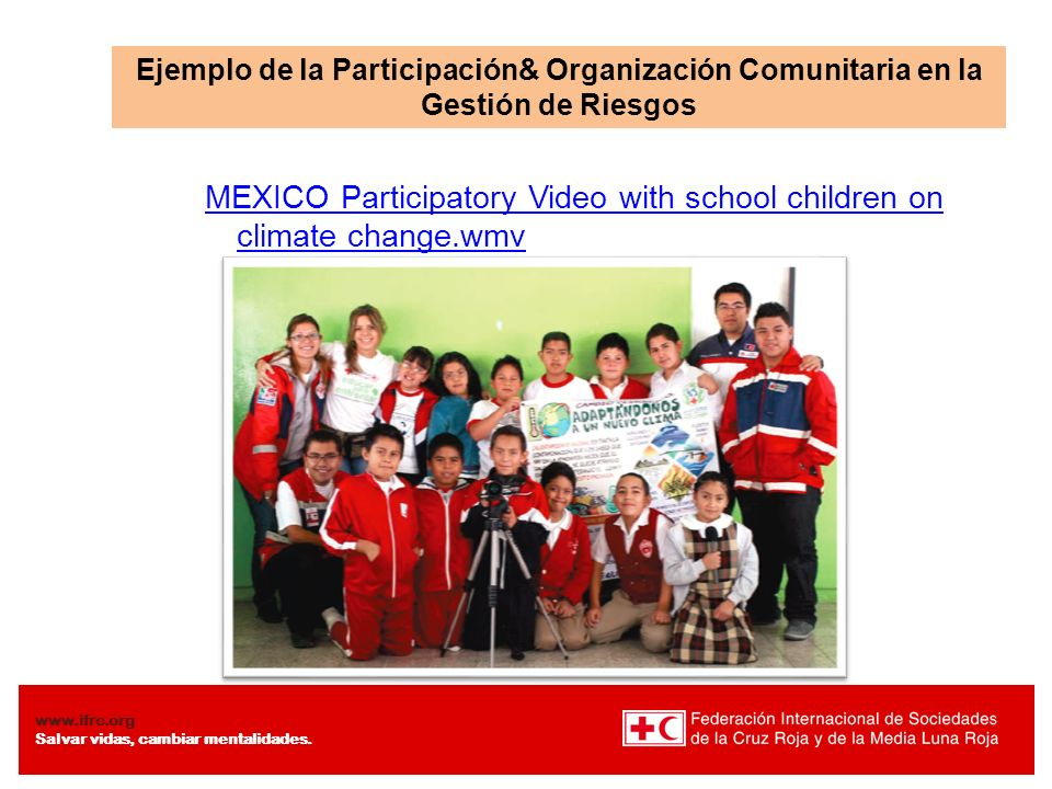 MEXICO Participatory Video with school children on climate change.wmv
