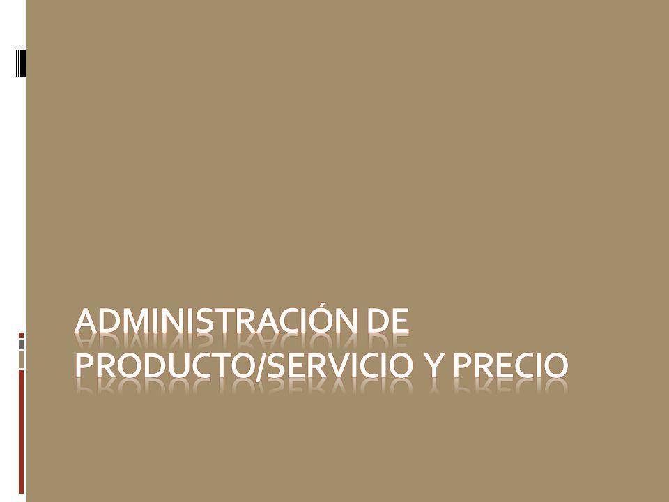 Administración de producto/servicio y precio