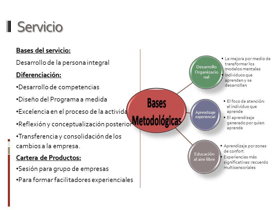 Servicio Bases del servicio: Desarrollo de la persona integral