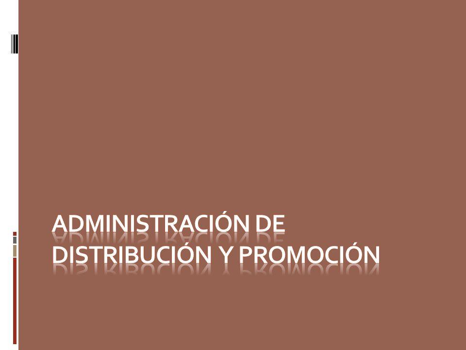Administración de distribución y promoción