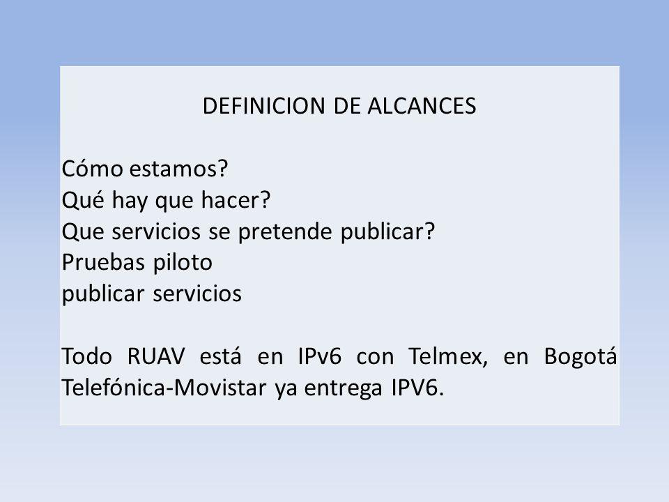 DEFINICION DE ALCANCES