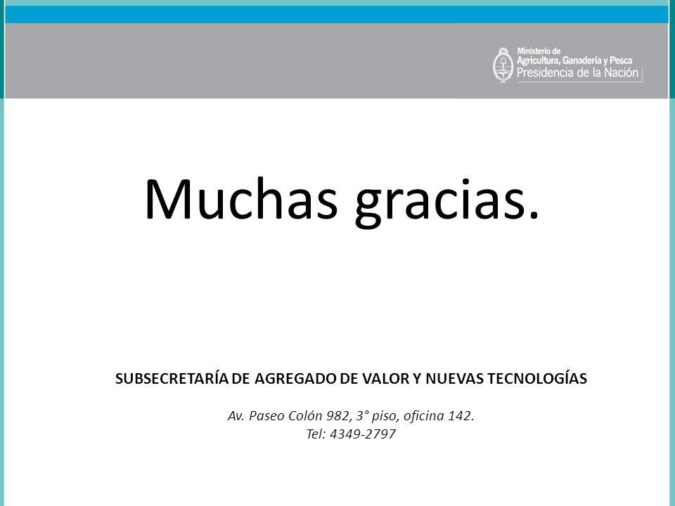 SUBSECRETARÍA DE AGREGADO DE VALOR Y NUEVAS TECNOLOGÍAS