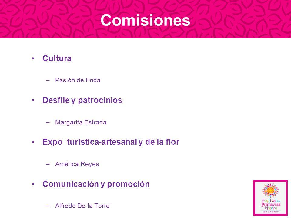 Comisiones Cultura Desfile y patrocinios