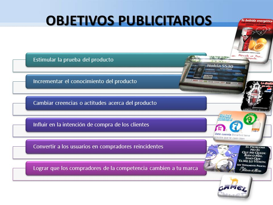 OBJETIVOS PUBLICITARIOS