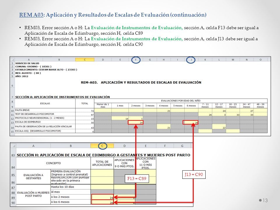 REM A03: Aplicación y Resultados de Escalas de Evaluación (continuación)