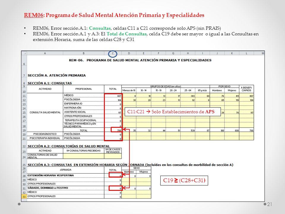 REM06: Programa de Salud Mental Atención Primaria y Especialidades