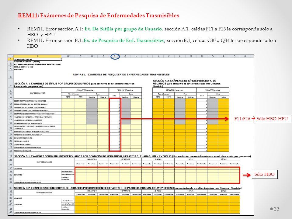 REM11: Exámenes de Pesquisa de Enfermedades Trasmisibles