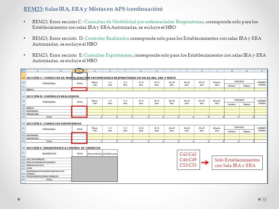 REM23: Salas IRA, ERA y Mixtas en APS (continuación)