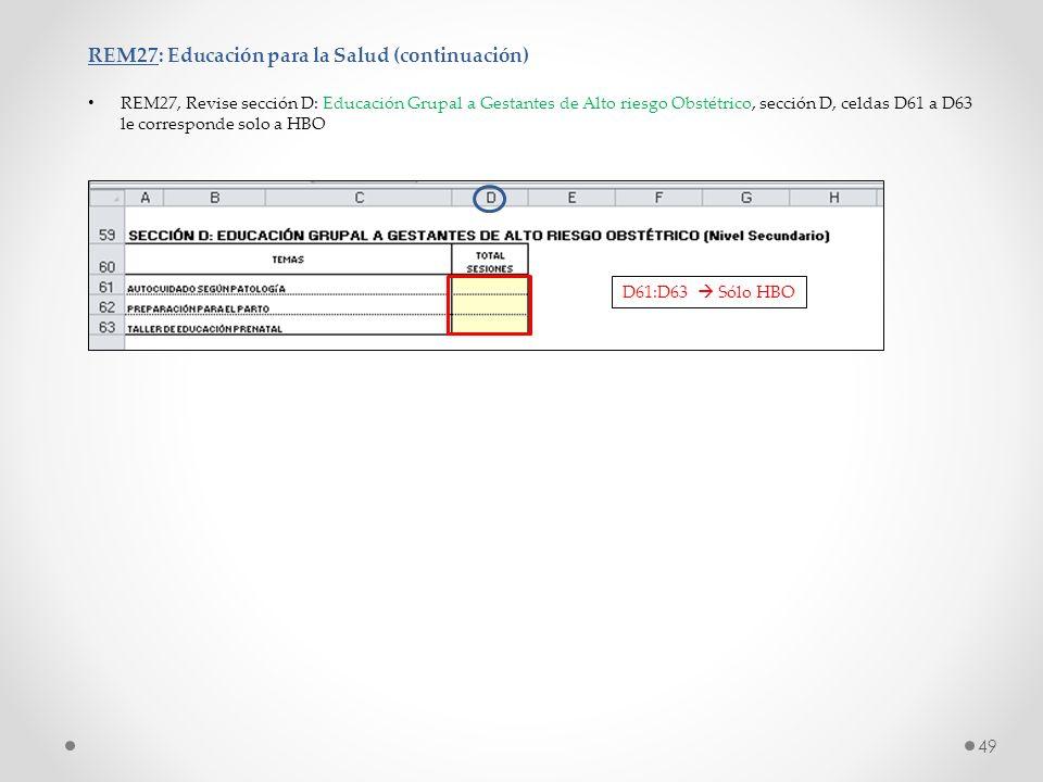 REM27: Educación para la Salud (continuación)