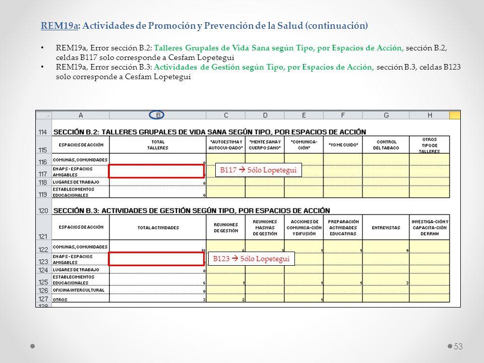 REM19a: Actividades de Promoción y Prevención de la Salud (continuación)