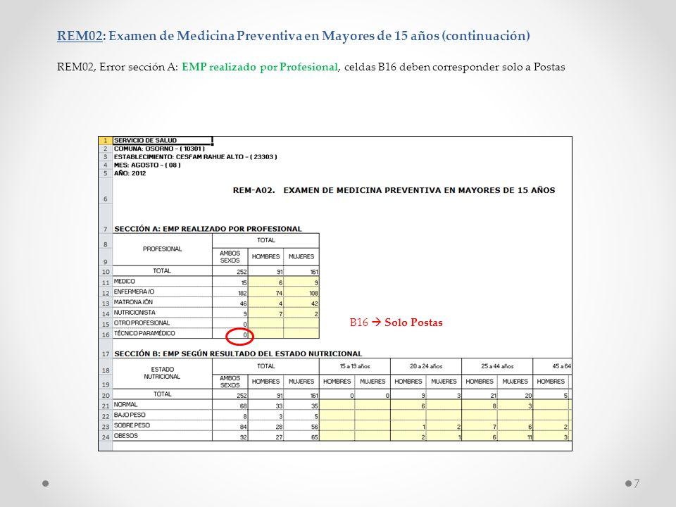 REM02: Examen de Medicina Preventiva en Mayores de 15 años (continuación)