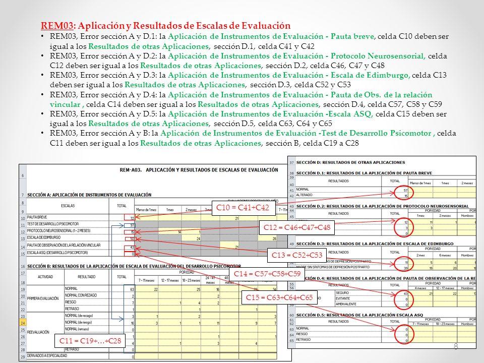 REM03: Aplicación y Resultados de Escalas de Evaluación