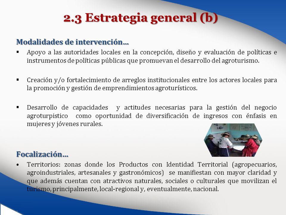 2.3 Estrategia general (b)