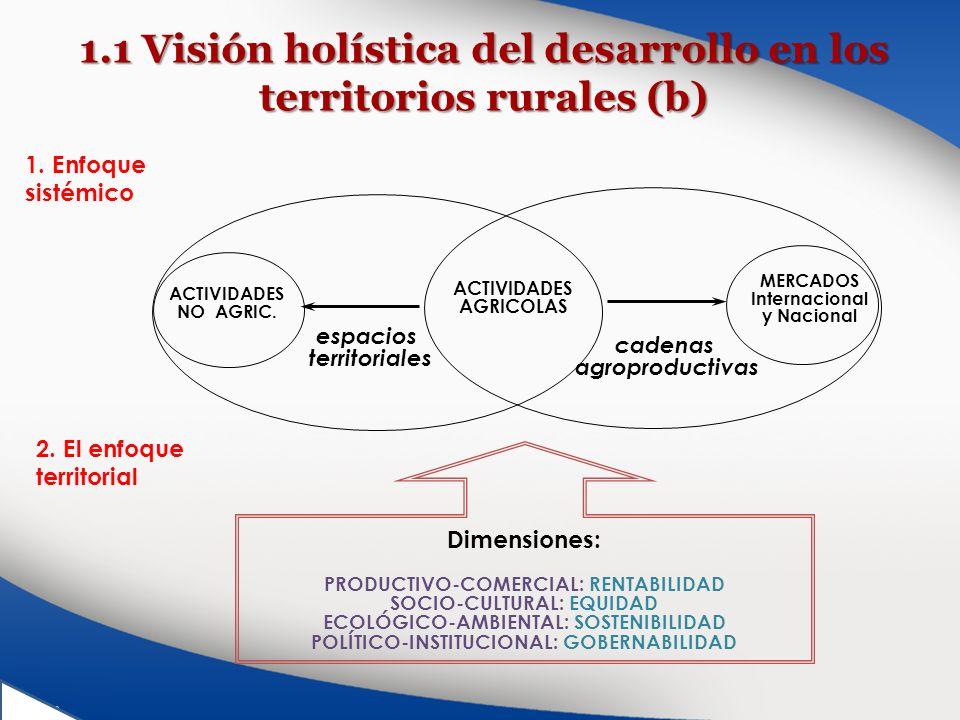 1.1 Visión holística del desarrollo en los territorios rurales (b)