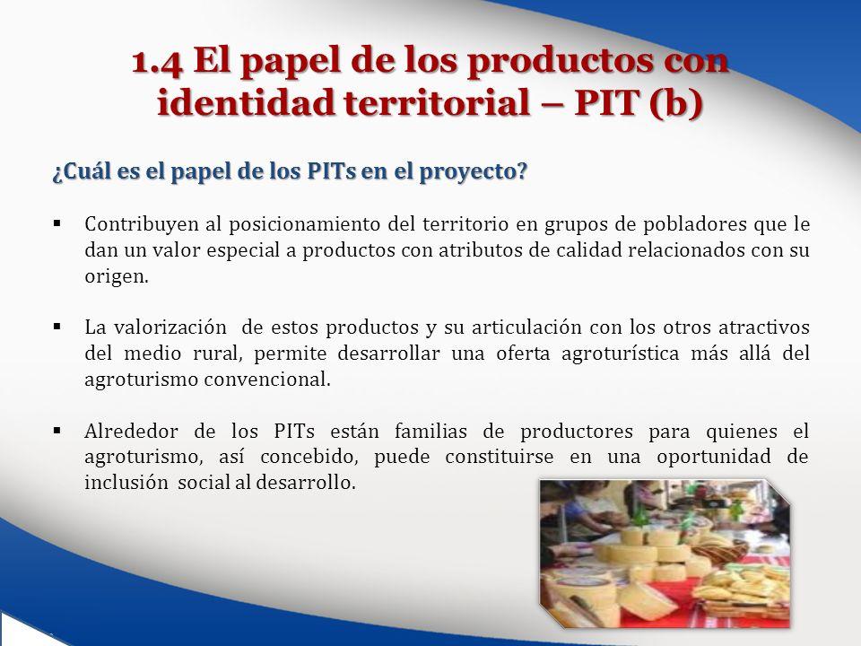 1.4 El papel de los productos con identidad territorial – PIT (b)
