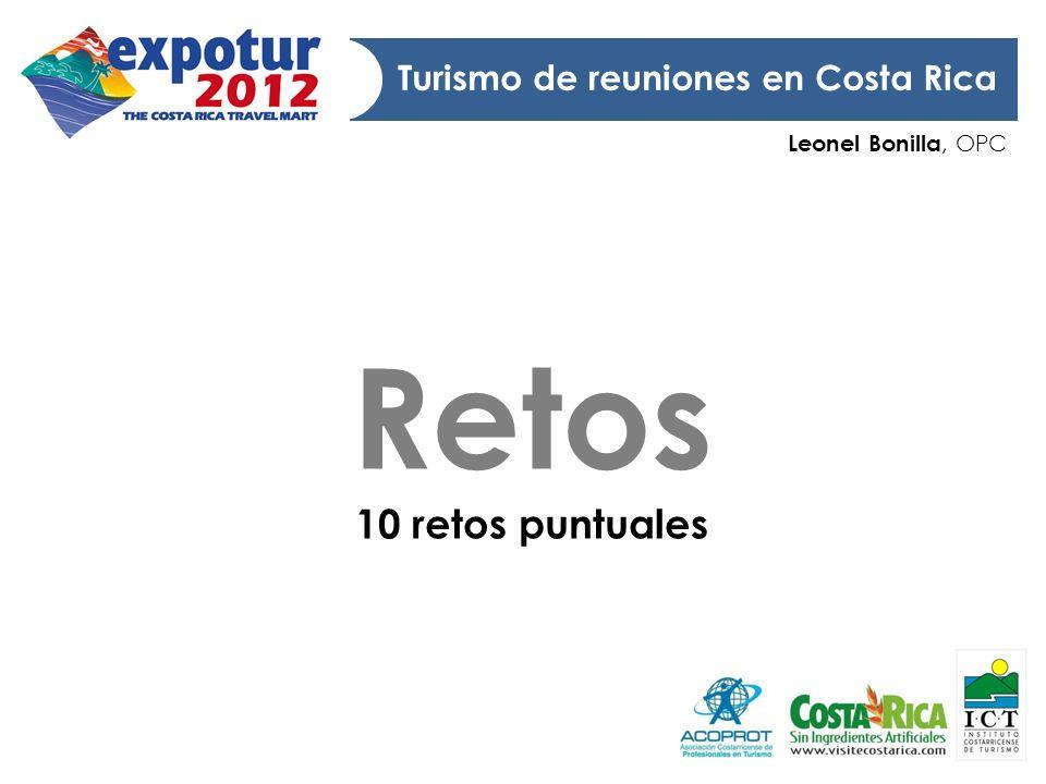 Retos 10 retos puntuales Turismo de reuniones en Costa Rica