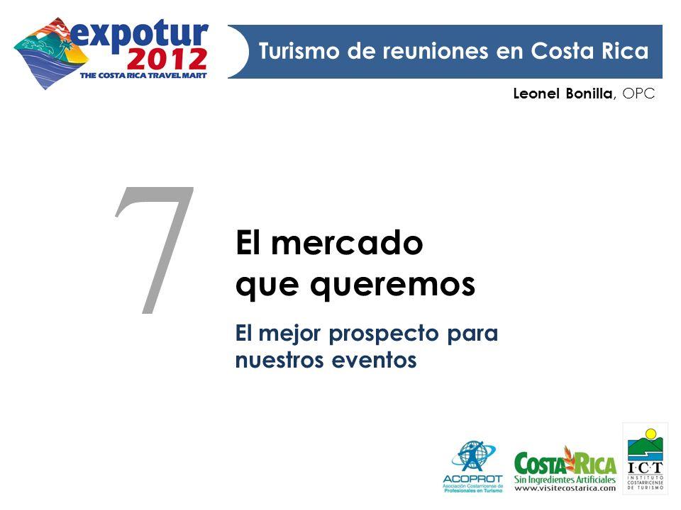 7 El mercado que queremos Turismo de reuniones en Costa Rica