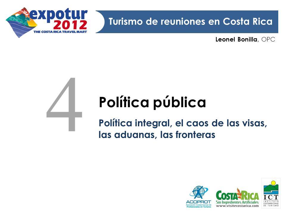 4 Política pública Turismo de reuniones en Costa Rica