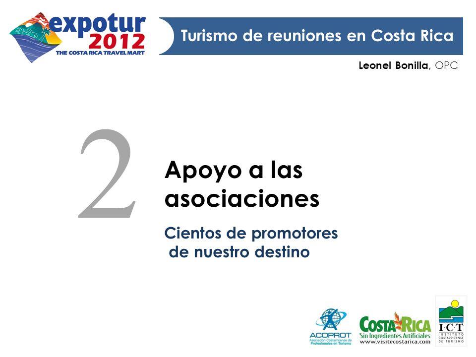 2 Apoyo a las asociaciones Turismo de reuniones en Costa Rica