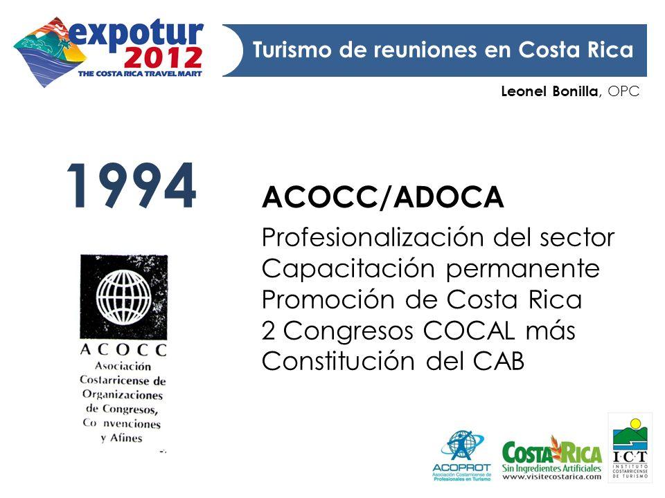 1994 ACOCC/ADOCA Profesionalización del sector Capacitación permanente