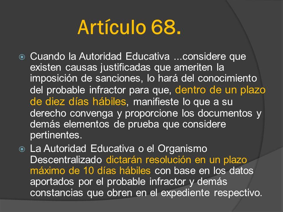Artículo 68.